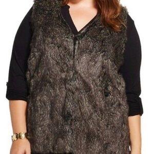 Ava & Viv Plus Size 3X Faux Fur Vest